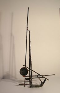 Paul Bacon contemporary abstract steel Sculpture Second Bore Pump