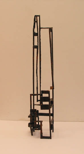 Paul Bacon contemporary abstract steel Scuplture Tenement