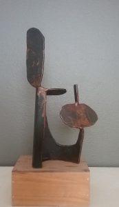 Bacon sculpture metal steel landscape