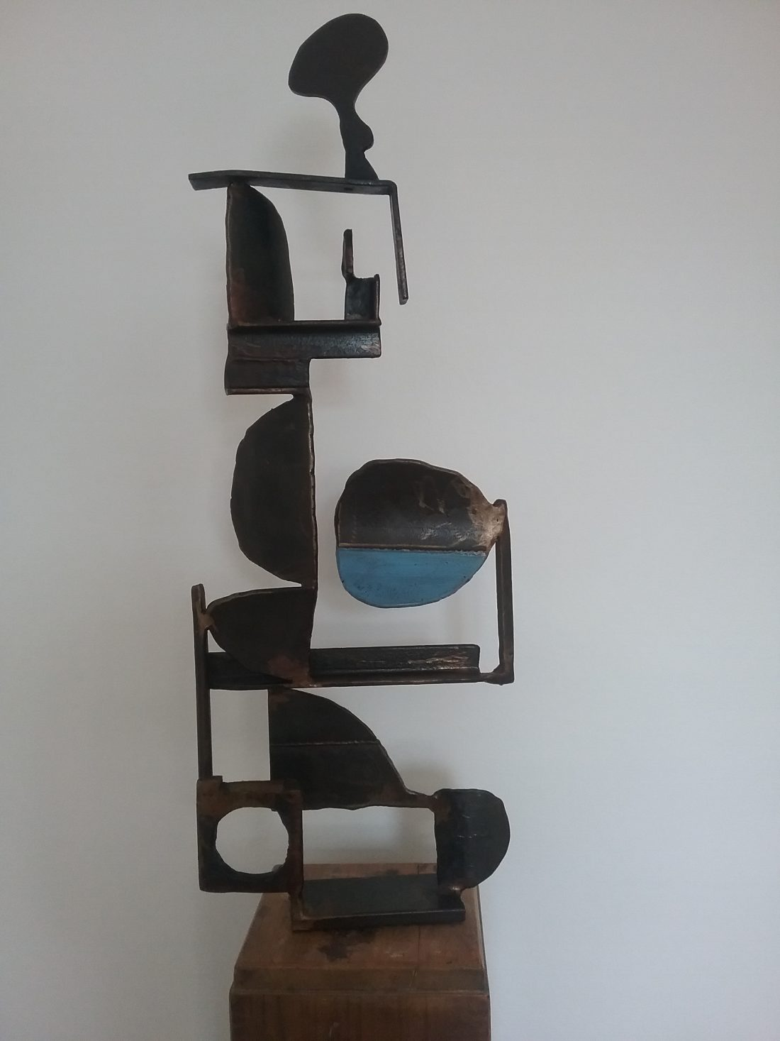 Paul bacon sculpture landscape steel abstract impressionism