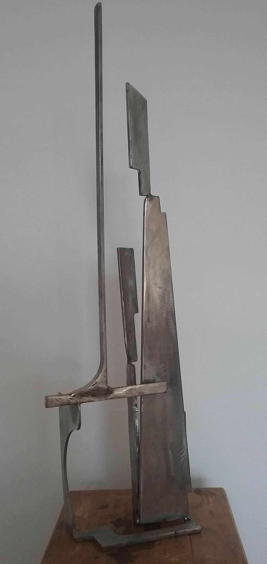 Paul Bacon sculpture stainless steel landscape abstract impressionism