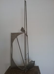 Paul bacon sculpture landscape stainless steel abstract