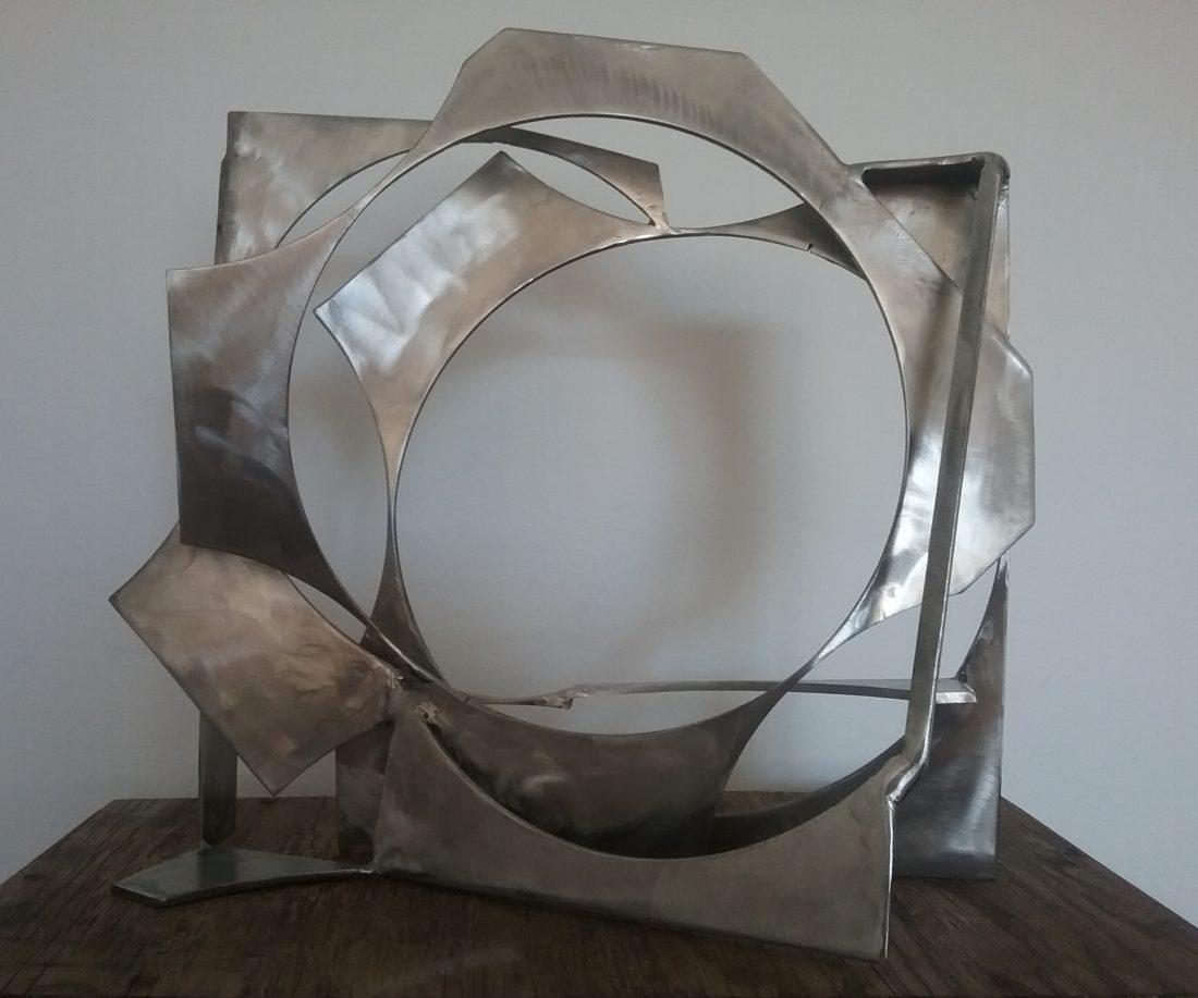 Paul bacon sculpture landscape stainless steel