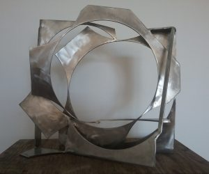 Paul bacon sculpture landscape stainless steel