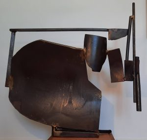 Paul bacon sculpture landscape steel abstract