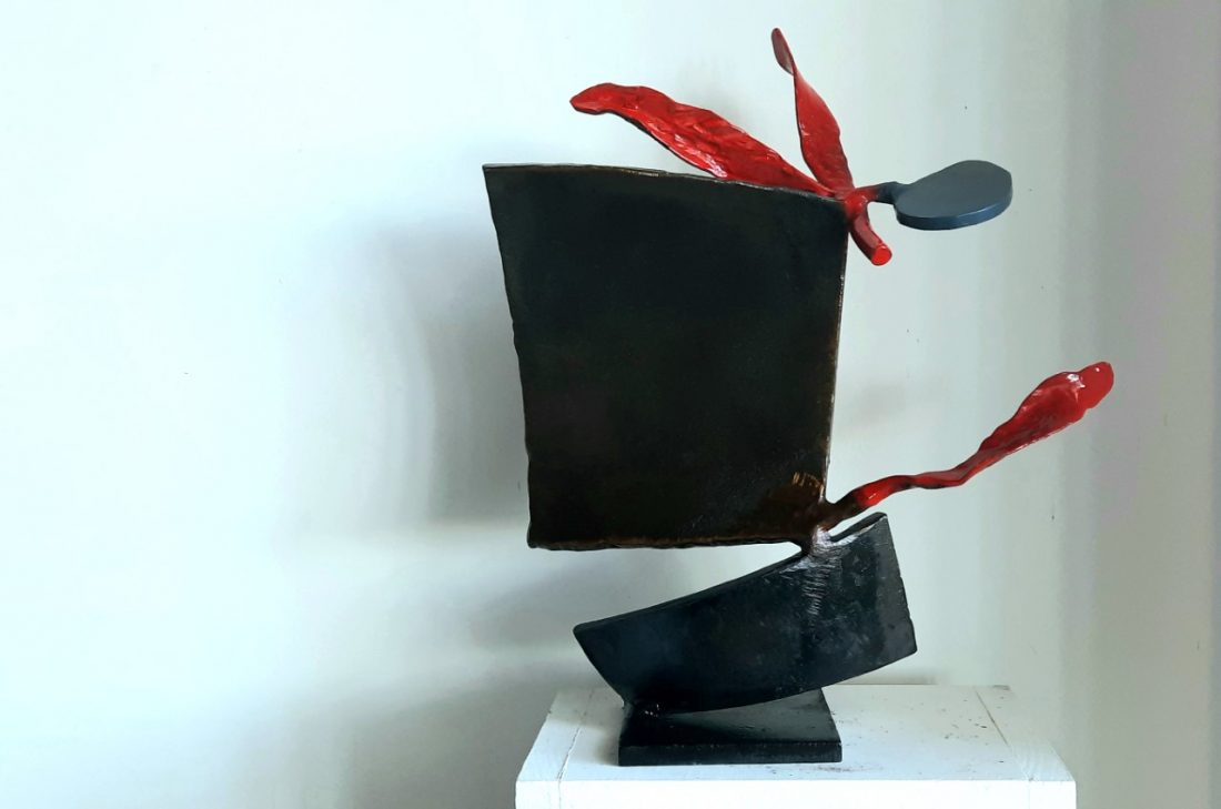 Paul bacon sculpture landscape abstract impressionism steel