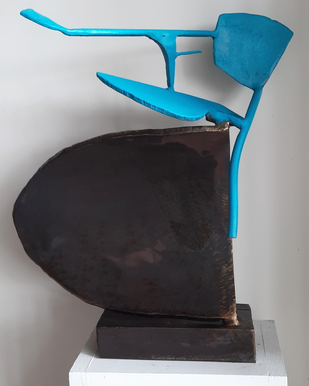 Paul bacon sculpture landscape abstract impressionism steel sketch