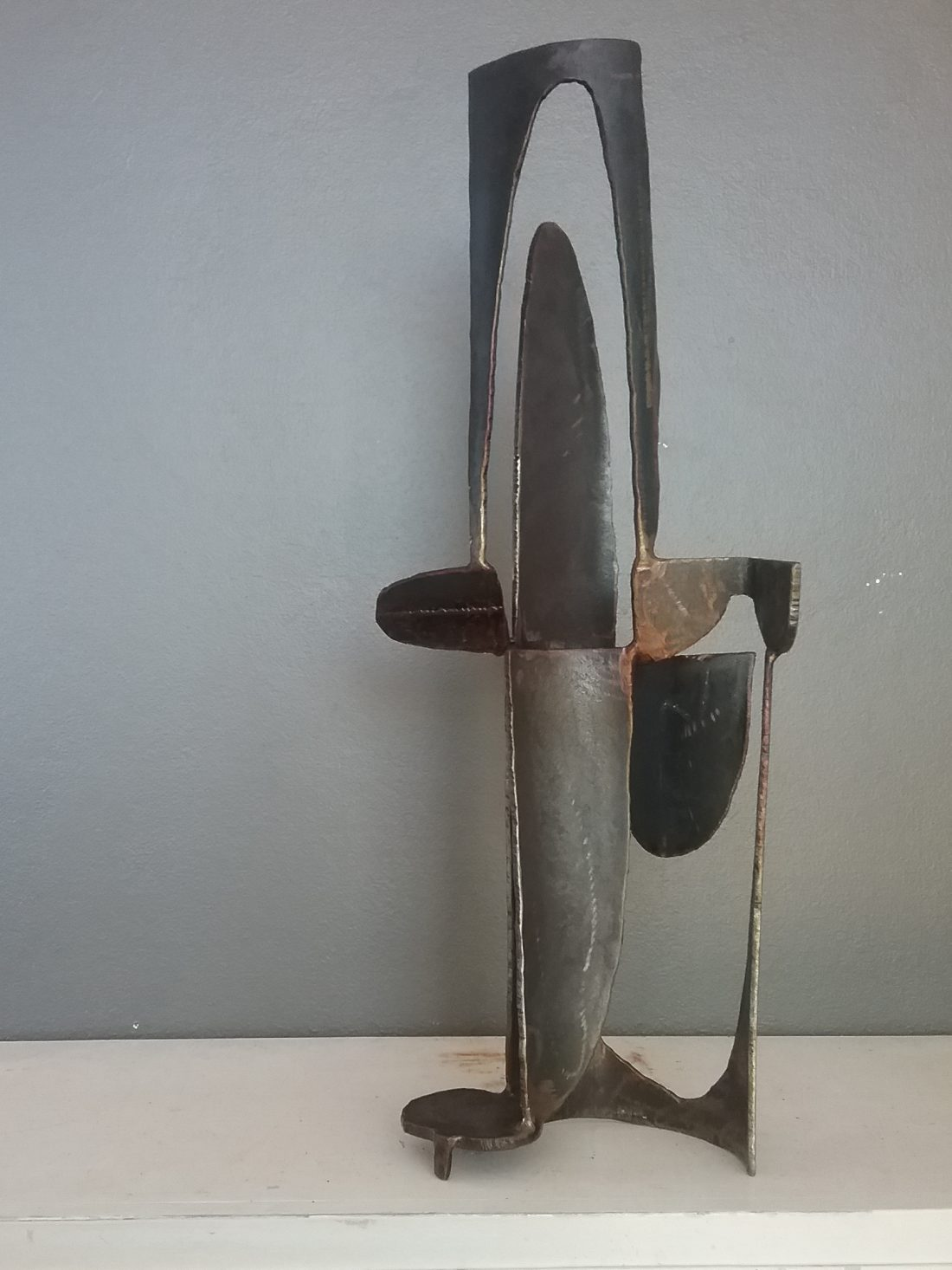 Paul bacon sculpture steel landscape sketch