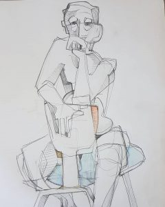 Paul bacon drawing male figure