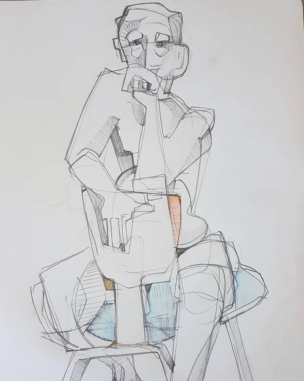 Paul bacon drawing male figure