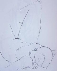 Paul bacon drawing nude female