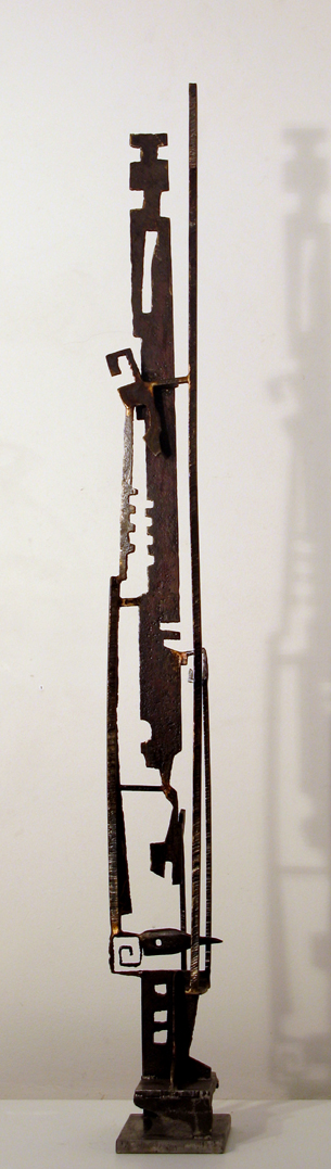 Paul Bacon Metal Sculpture 2008 iron bark king