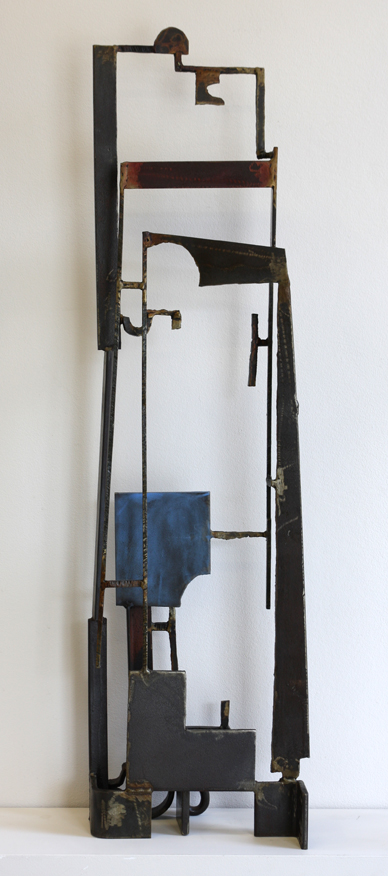 Paul Bacon Artworks Sculpture 2014 Blue Construction After Lewers