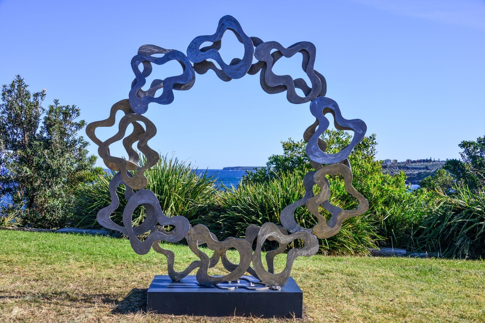 Paul bacos sculpture stainless steel