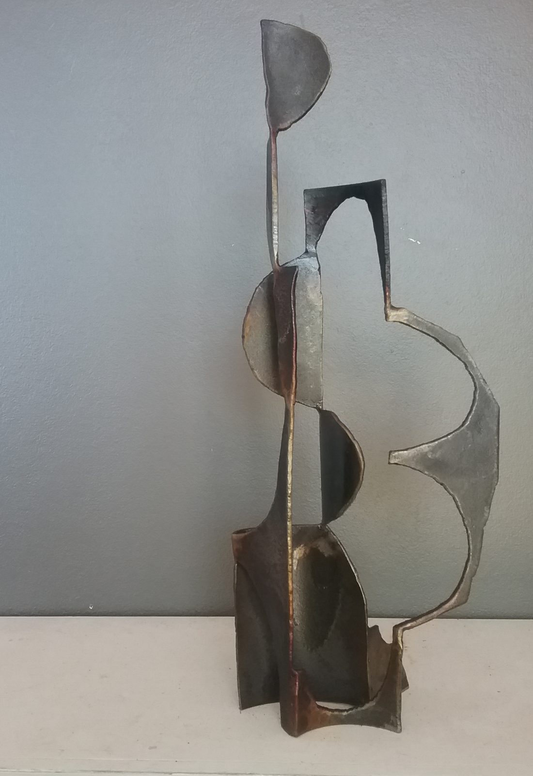 Paul bacon sculpture landscape sketch steel