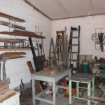 Paul Bacon sculptor studio interior